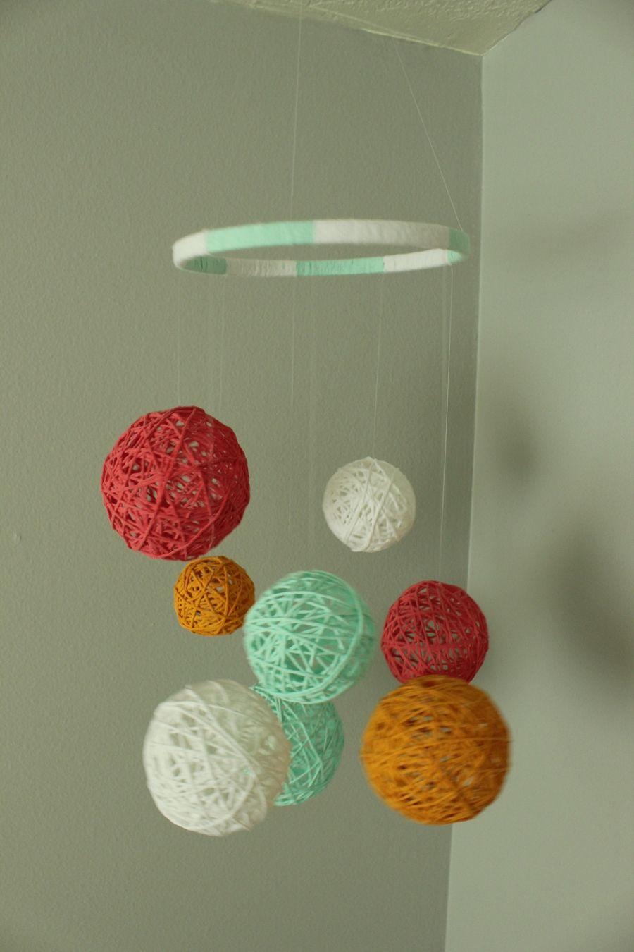 Embroidery Hoop Yarn balls