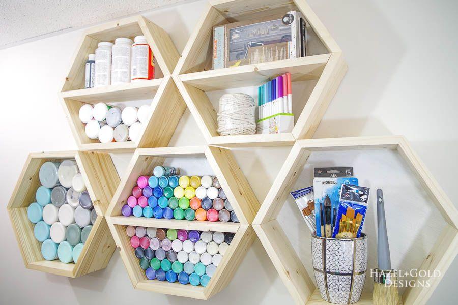 Honey Comb Shelves