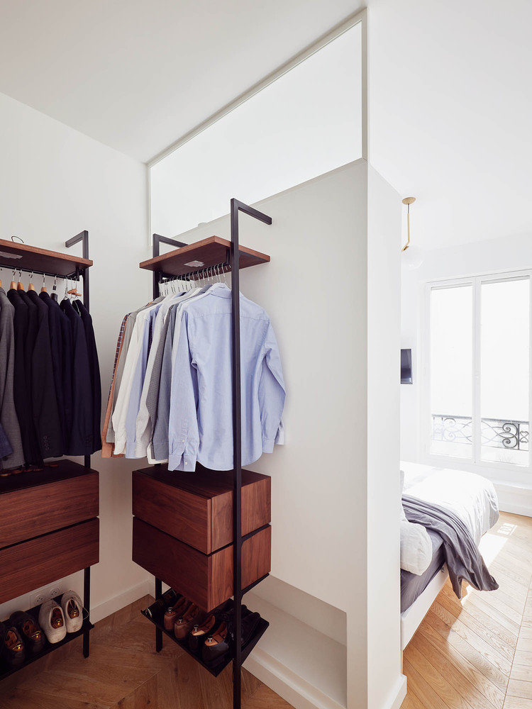 The newly added bedroom has an adjacent walk-in closet area