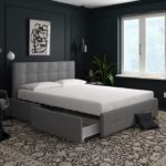 Upholstered Bed with Storage