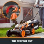 WORX 40V Power Share 14-Inch Lawn Mower with Mulching & Intellicut