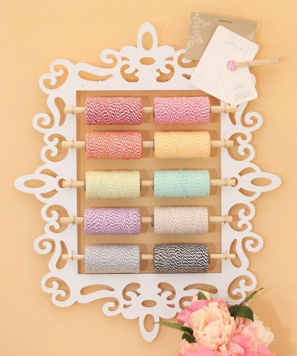 Wall hanging yarn holder