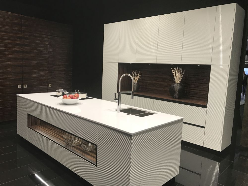 luxury kitchen decor with brown and white