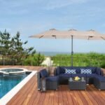 15ft Patio Umbrella Double-Sided Outdoor
