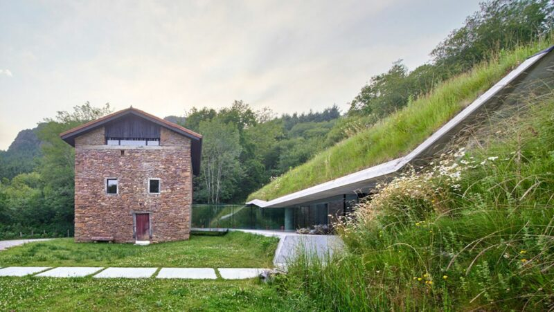 Beautiful Underground Annex Fits Snugly Into A Hillside