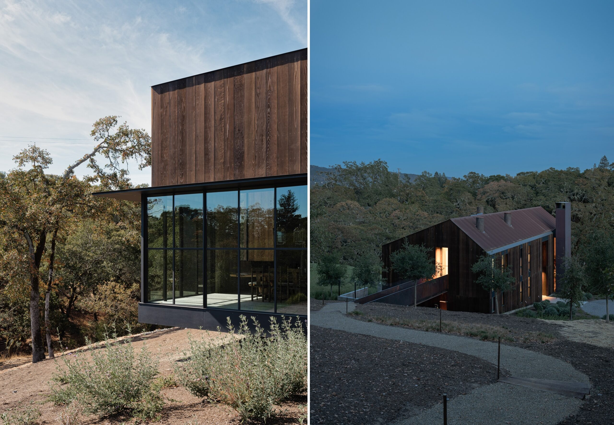 The Big Barn fits naturally into its surroundings by blending the old and the new