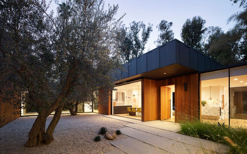 The western red cedar cladding gives the house a very welcoming appearance