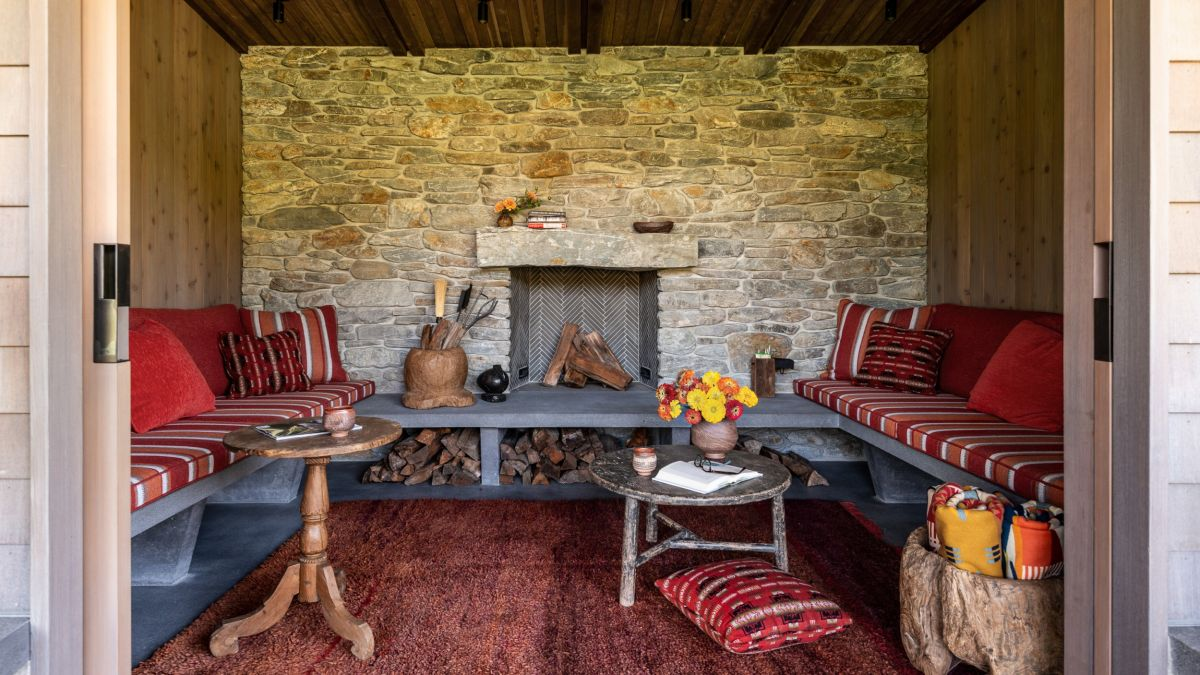 This cozy seating nook is one of the several comfortable lounge areas throughout the house