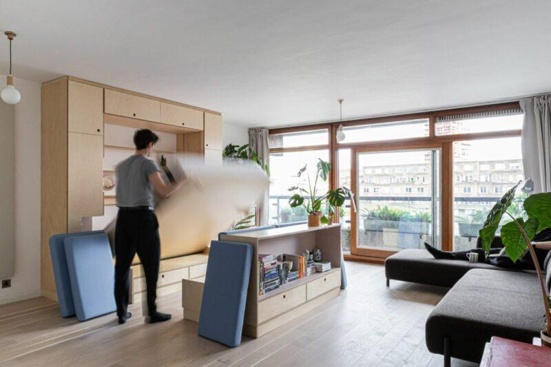 Multi-Purpose Furniture Transforms This Small Apartment Into A Dance Studio