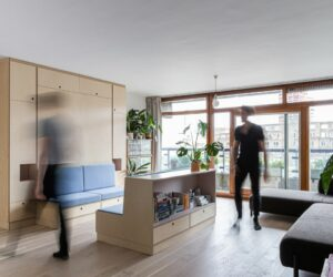 Multi-Purpose Furniture Transforms This Small Apartment Into A Dance Studio