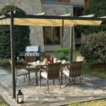Large BBQ Grill Pergola with Sun Shade Gazebo