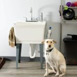 Laundry Sink Utility Tub With High Arc Chrome Faucet