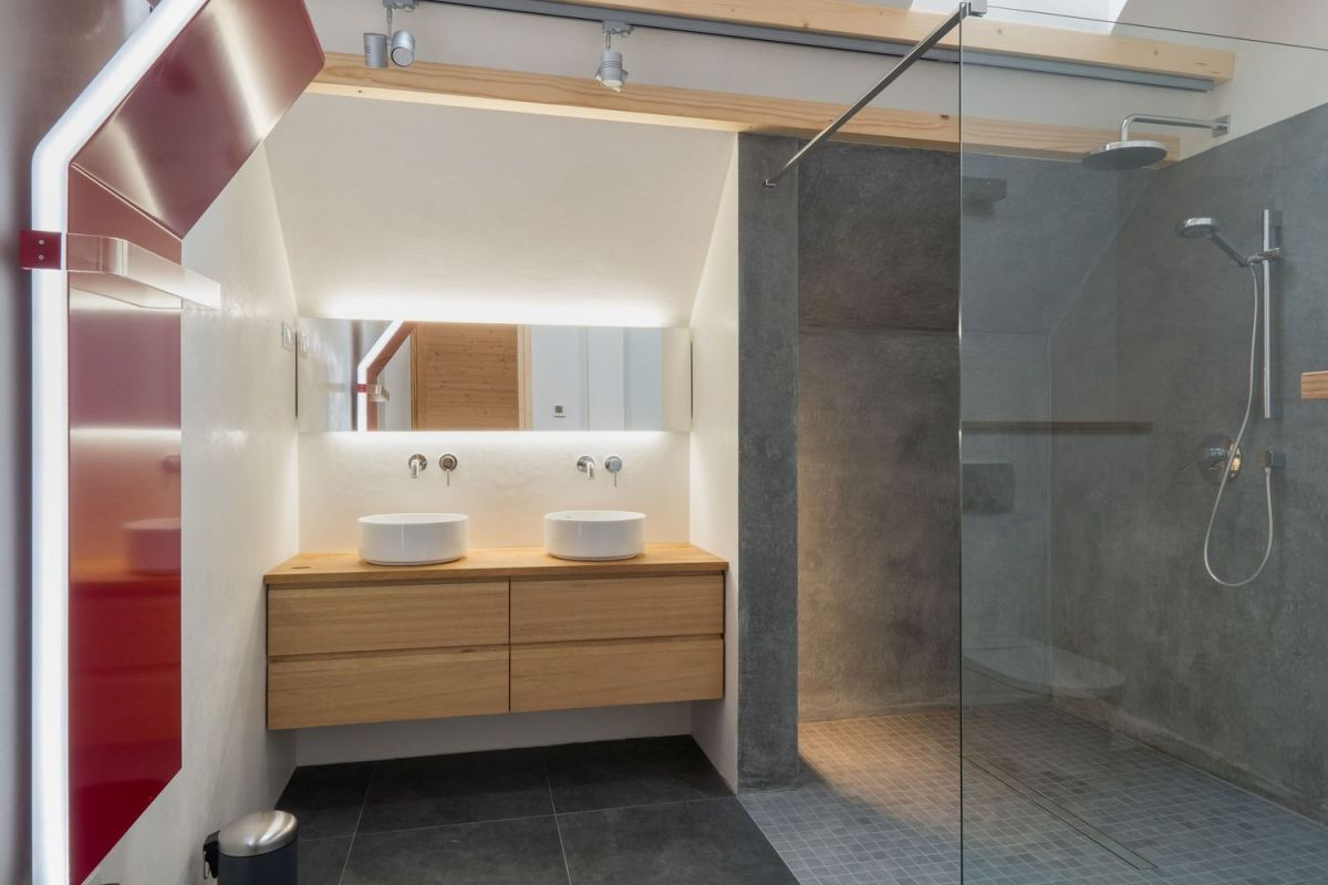 Natural materials and colors were prioritized throughout the project