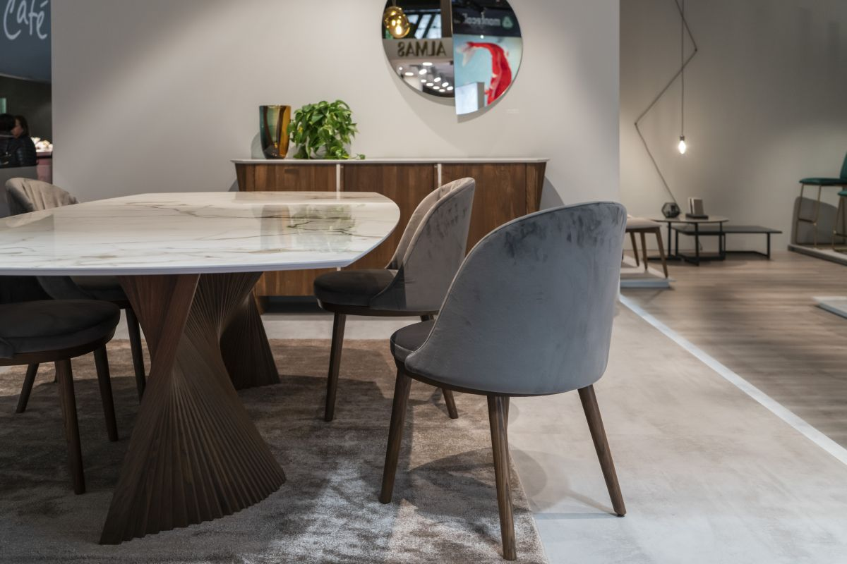 Modern dining table with chairs - How To Design And Decorate The Space Around Your Dining Table