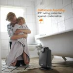 OPOLAR Space Ceramic Bathroom Heater with IP21 Water-Proof