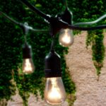 Outdoor String Lights with 15 Hanging Sockets
