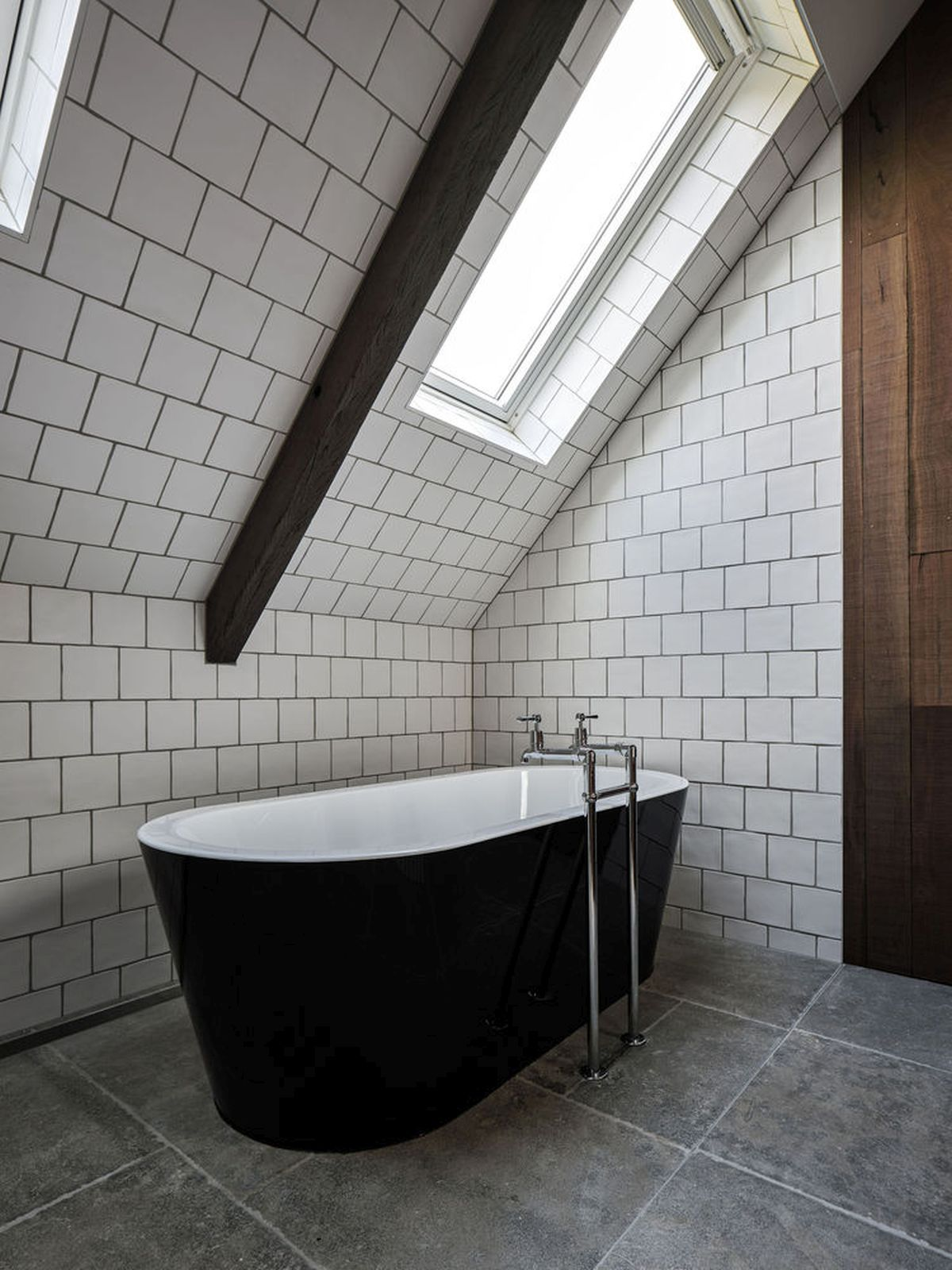 Skylights were installed for the upstairs rooms, including the bathrooms