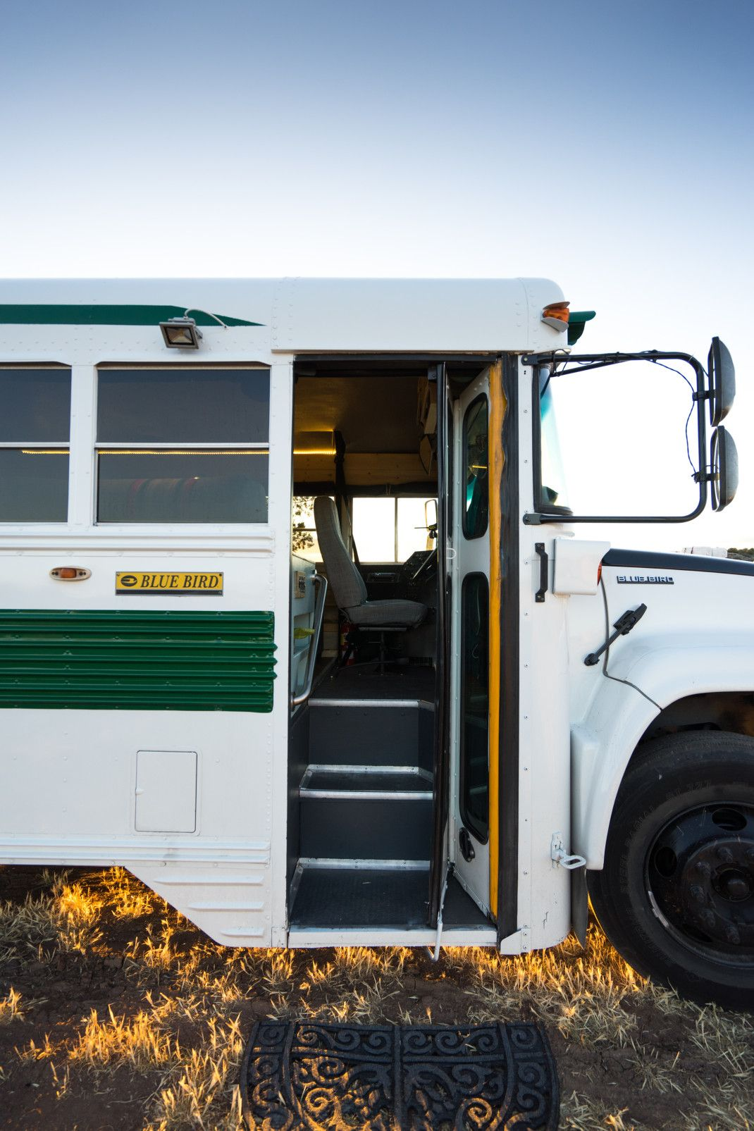 When the bus is stationary, this becomes the entryway