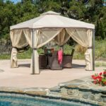 Sonoma Iron Gazebo Canopy with Net Draper