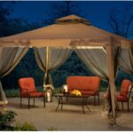 Sunjoy Hampton Softtop Steel Gazebo with Netting