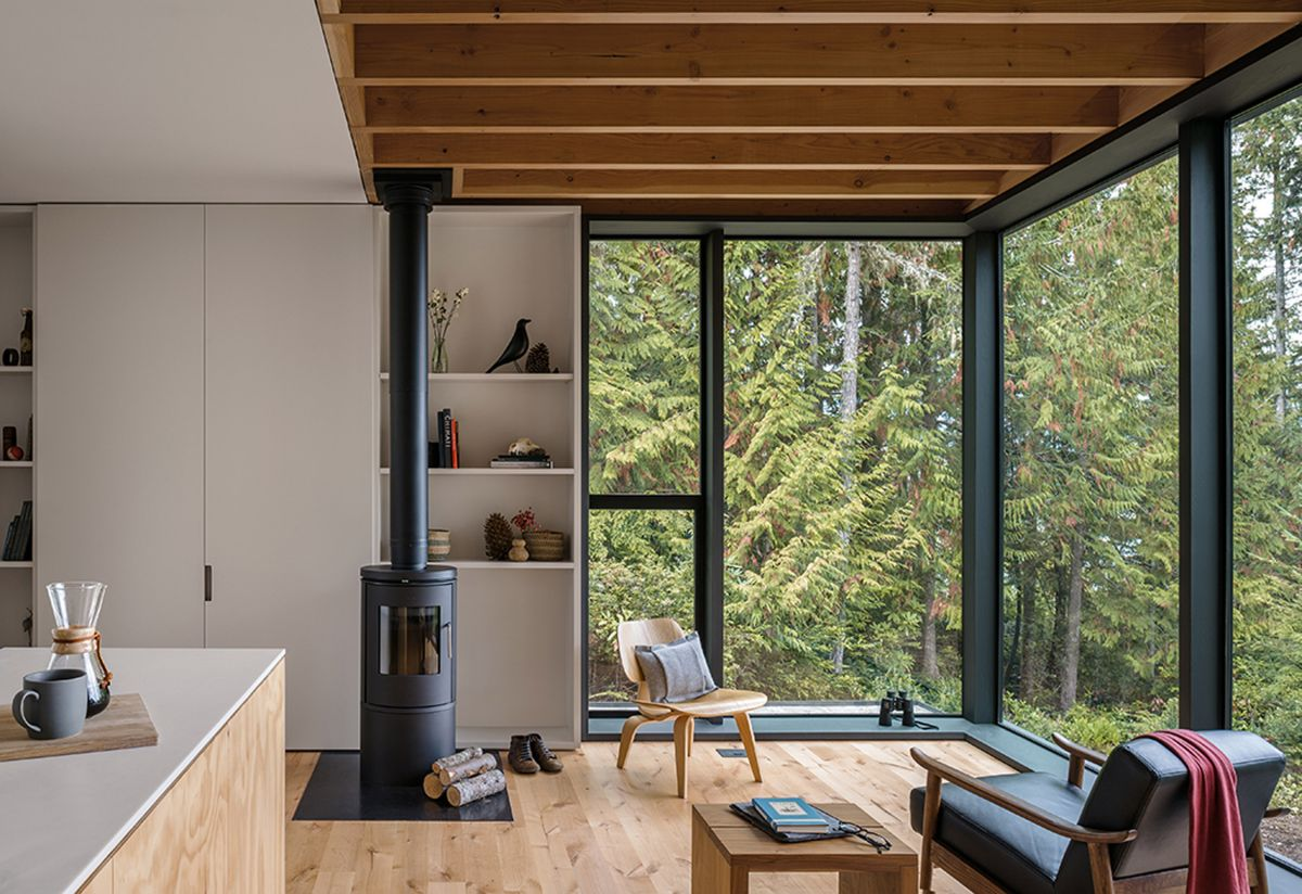 The interior of the cabin is welcoming and feels very spacious in spite of the small footprint