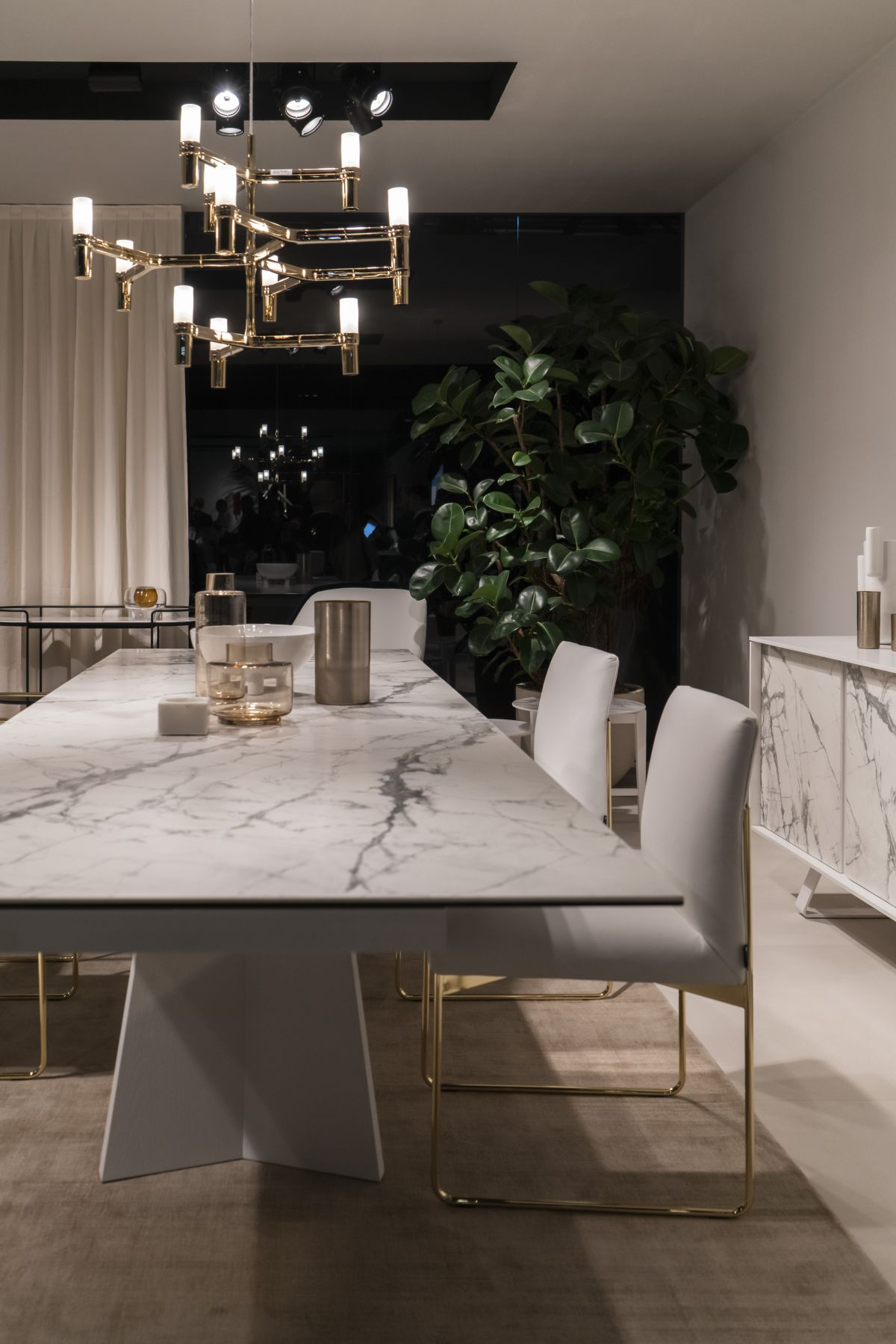 dining table with large marble slab - How To Design And Decorate The Space Around Your Dining Table