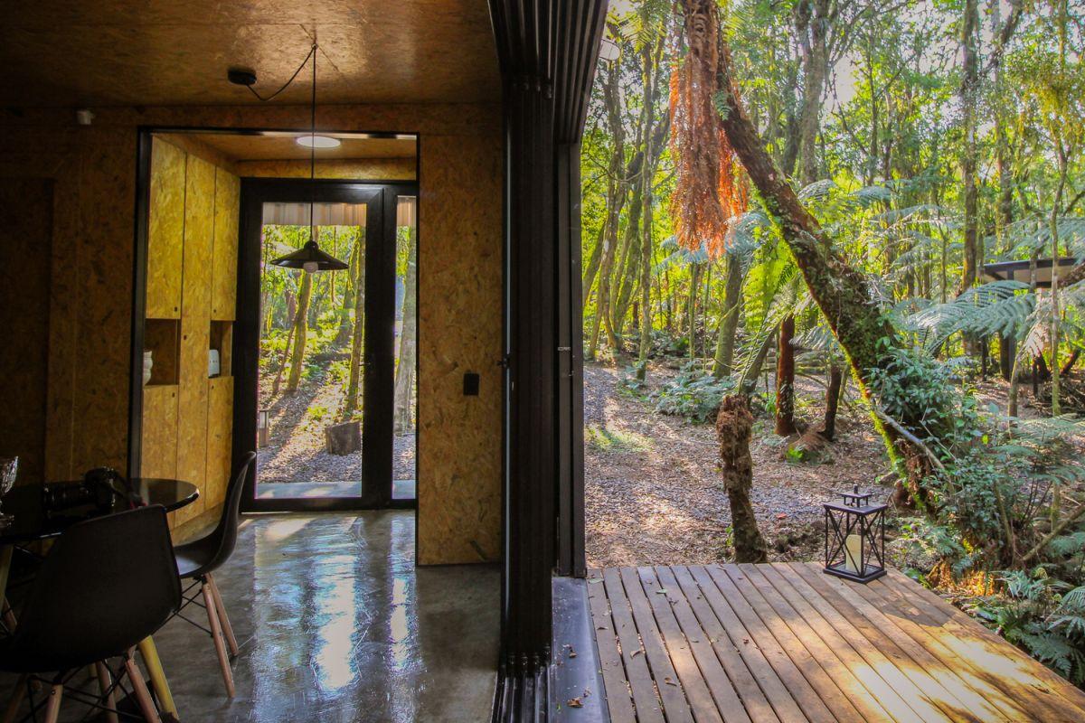 Alpes São Chico Housing Complex design Porto Quadrado concrete polished floor - A Trio Of Vacation Houses Built With Prefab Metal Panels
