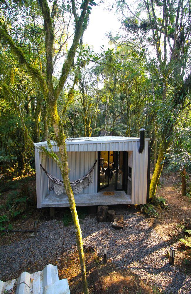 Alpes São Chico Housing Complex design Porto Quadrado hammock - A Trio Of Vacation Houses Built With Prefab Metal Panels