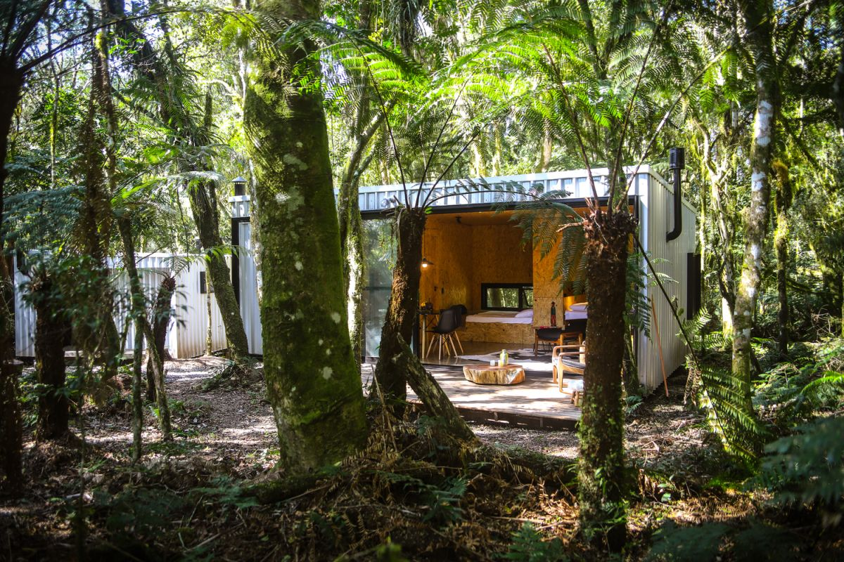 Alpes São Chico Housing Complex design Porto Quadrado plywood - A Trio Of Vacation Houses Built With Prefab Metal Panels