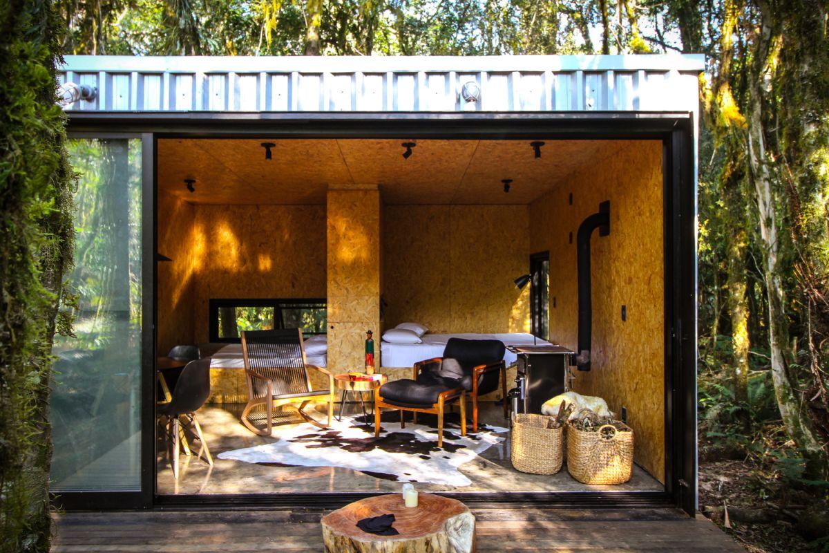 Alpes São Chico Housing Complex design Porto Quadrado - A Trio Of Vacation Houses Built With Prefab Metal Panels