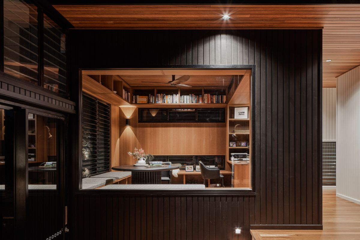 The interior and exterior of the house were designed with lots of warm and earthy materials