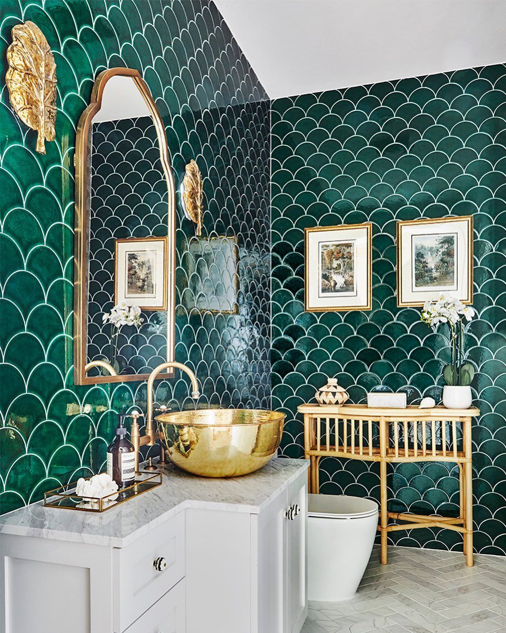 10 Green Bathrooms With Gorgeous Interior Designs
