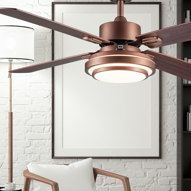 Blade LED Standard Ceiling Fan with Remote Control and Light Kit Included
