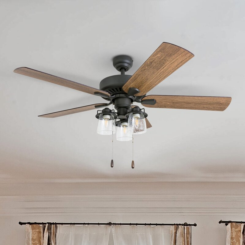 Blade Standard Ceiling Fan with and Light Kit Included