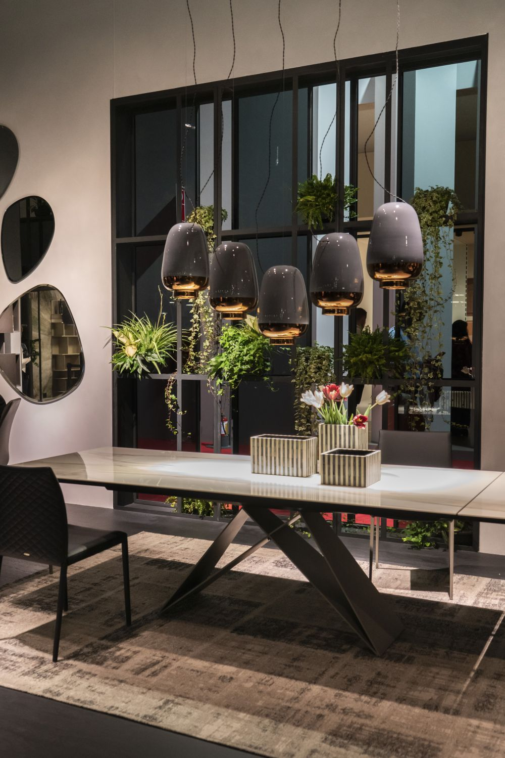 Cattelan premier dining table and asia pendant lights - Lighting Fixtures that Will Add a Bid Dose of Drama to Your Room