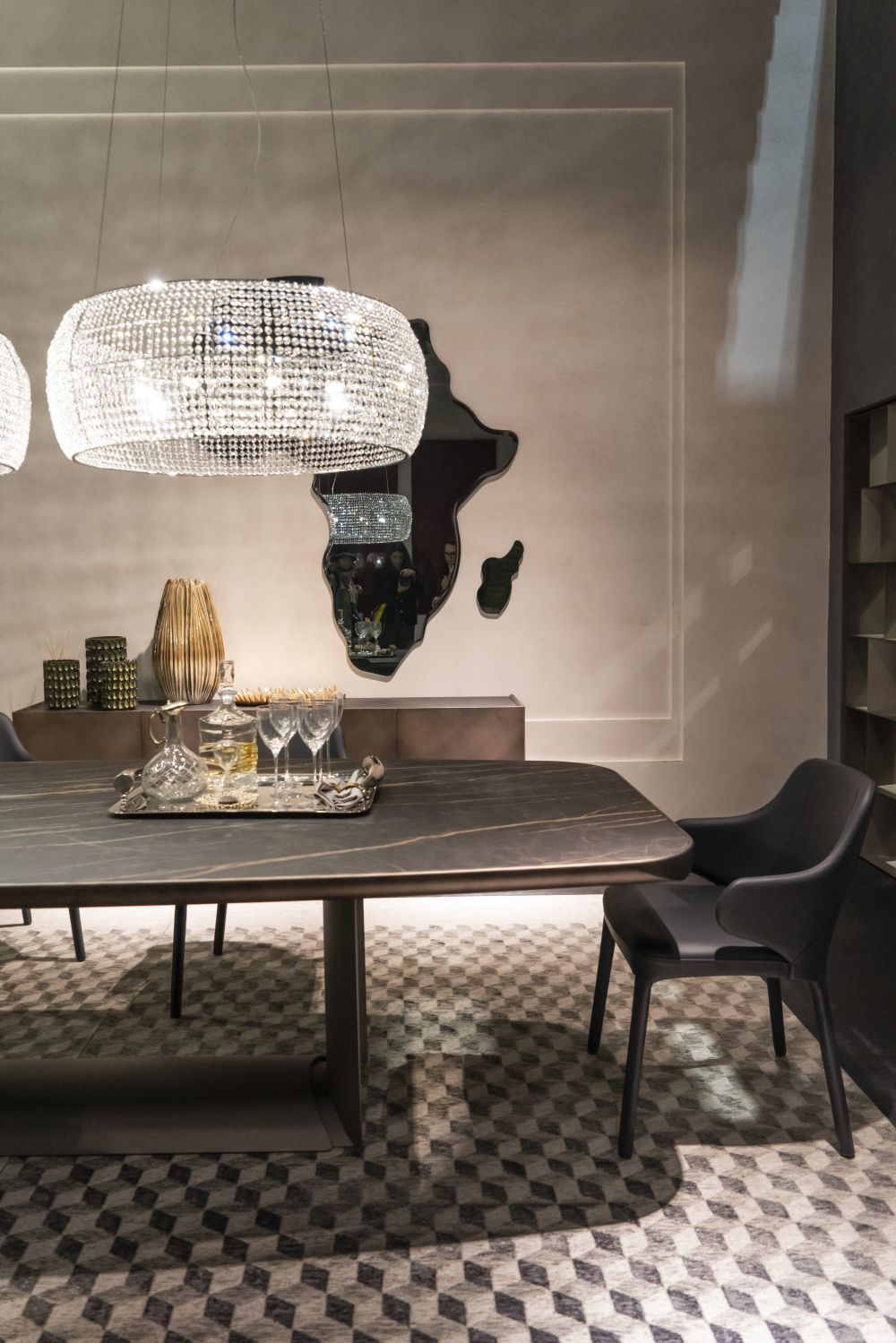 Chandelier over the dining table - Lighting Fixtures that Will Add a Bid Dose of Drama to Your Room