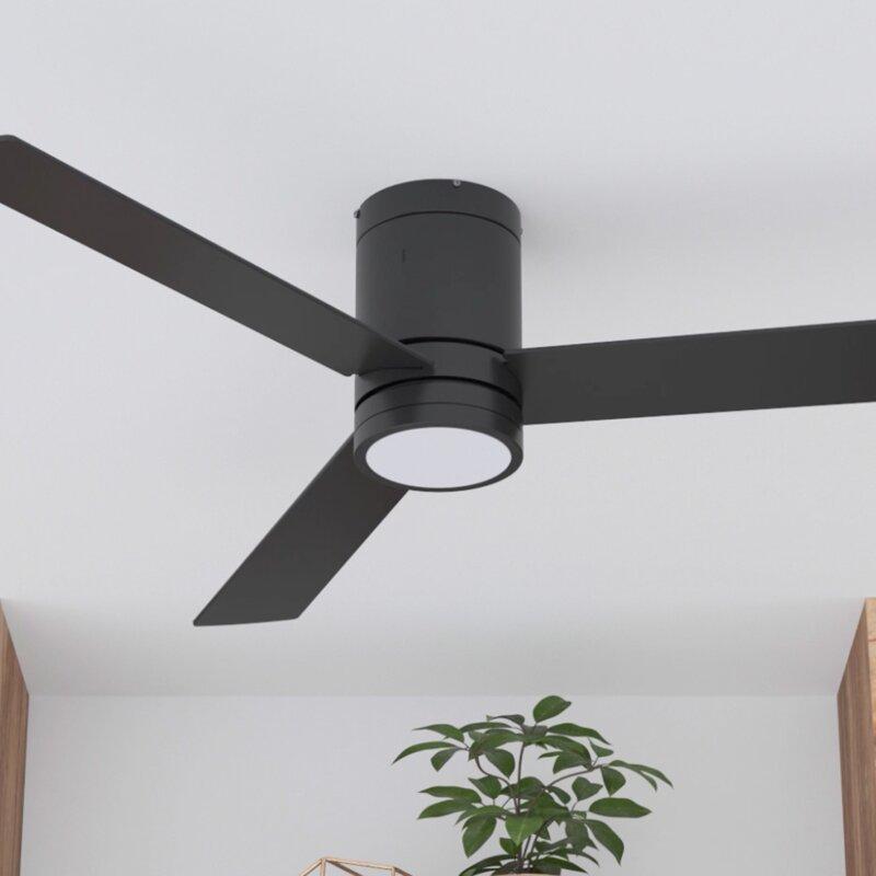 Espy Blade LED Flush Mount Ceiling Fan