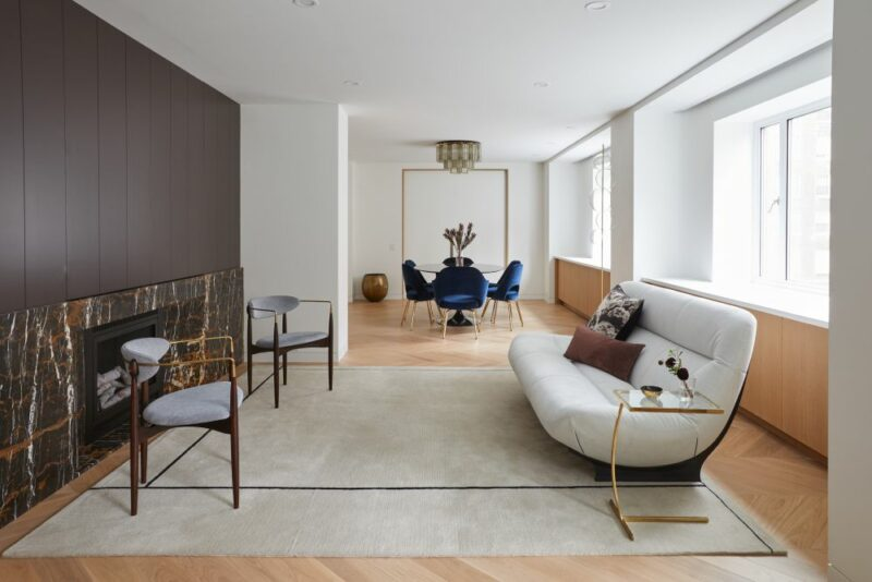 Double Unit Apartment Transformation With Art Deco And Mid-century Vibes