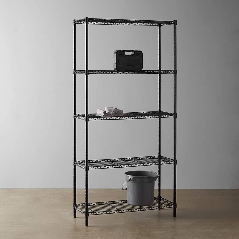 Go with a classic shelving unit