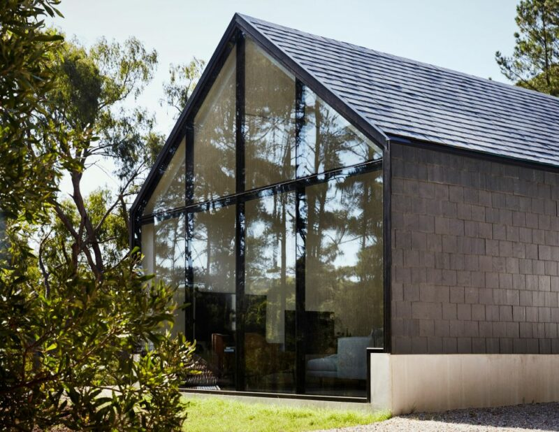 A Stylish Contemporary House In Rural Australia Boasts A Black and White Palette