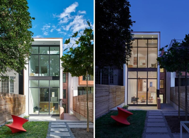 A Traditional Row House With A Modern Backyard Extension