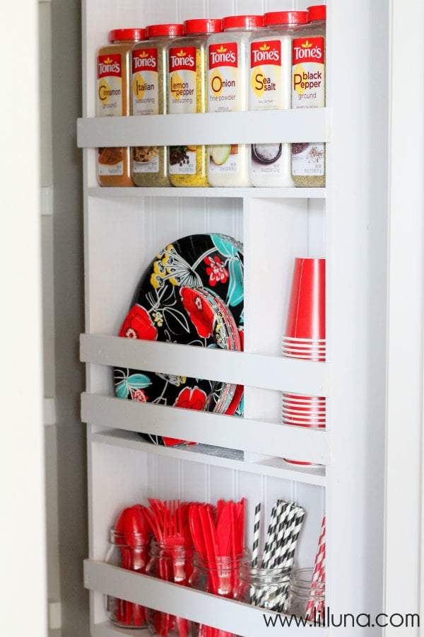 Make an organizer for commonly-used items