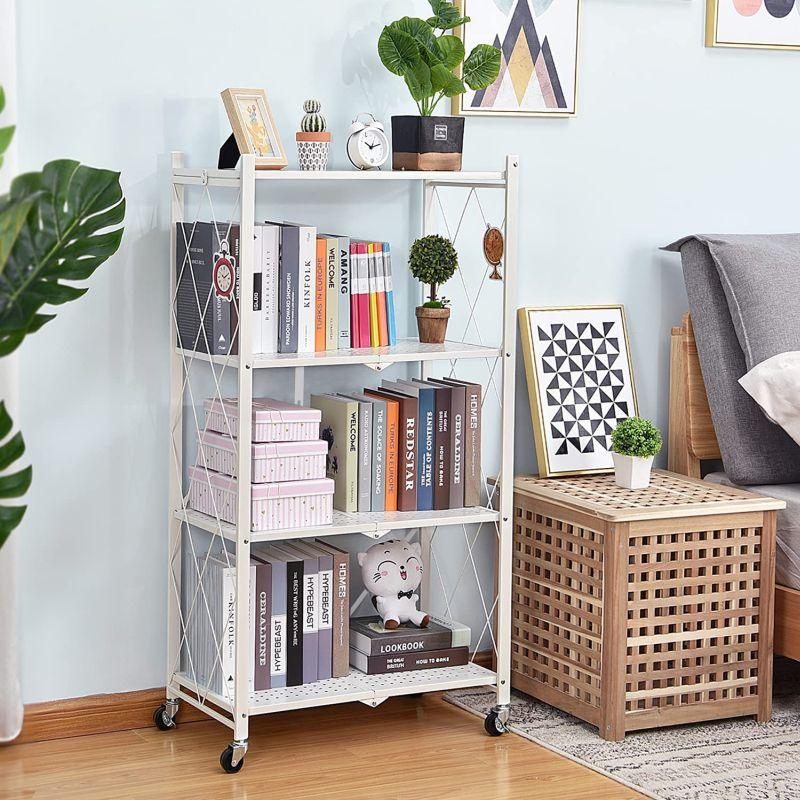 Make good use of freestanding shelving units