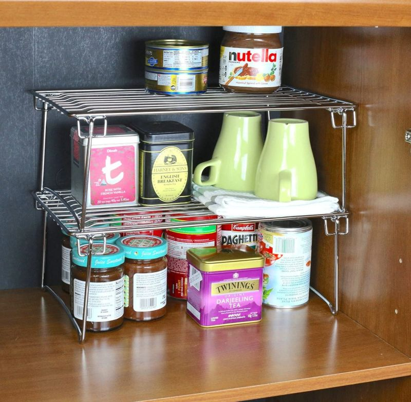Maximize the storage capacity of your cabinets and shelves