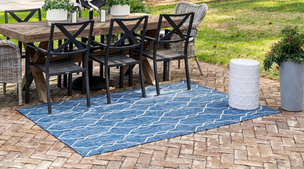 13 Blue Outdoor Rugs For Stylish And
