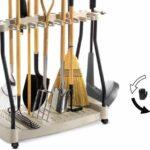 Rolling Garden Tools Rack
