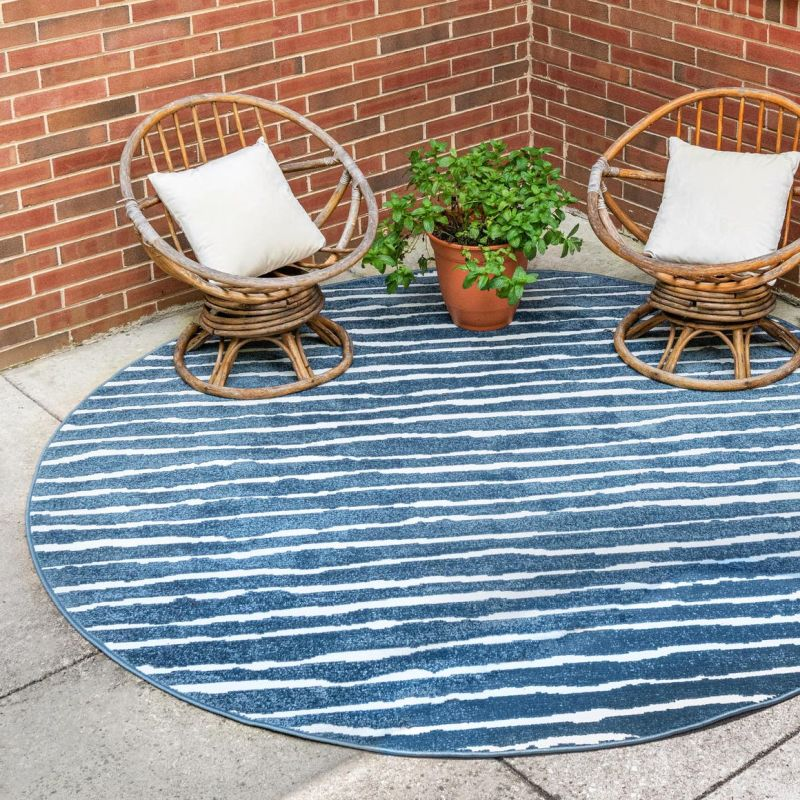 13 Blue Outdoor Rugs For Stylish And Soothing Decks And Patios