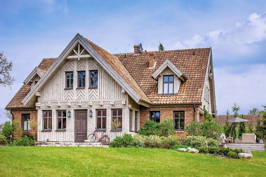 This majestic house was intentionally designed to look weathered and old