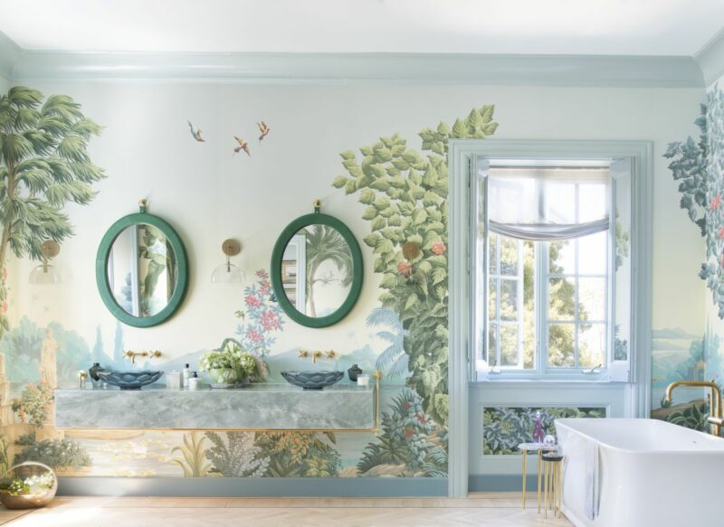 The Most Beautiful Bathroom Ever Feels Like Sitting in a Lost Garden