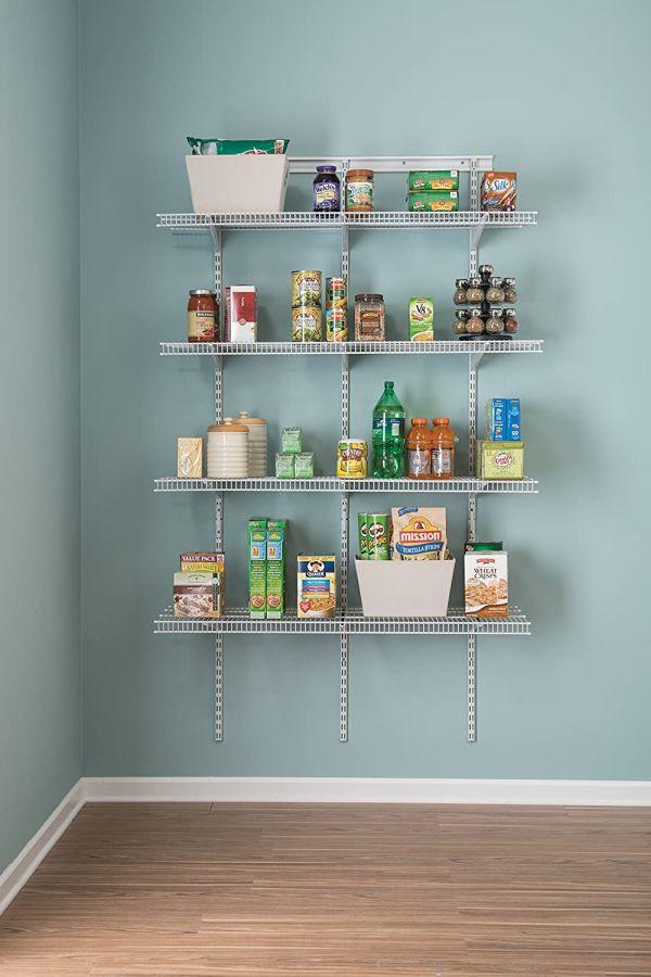 Try adjustable mesh shelves